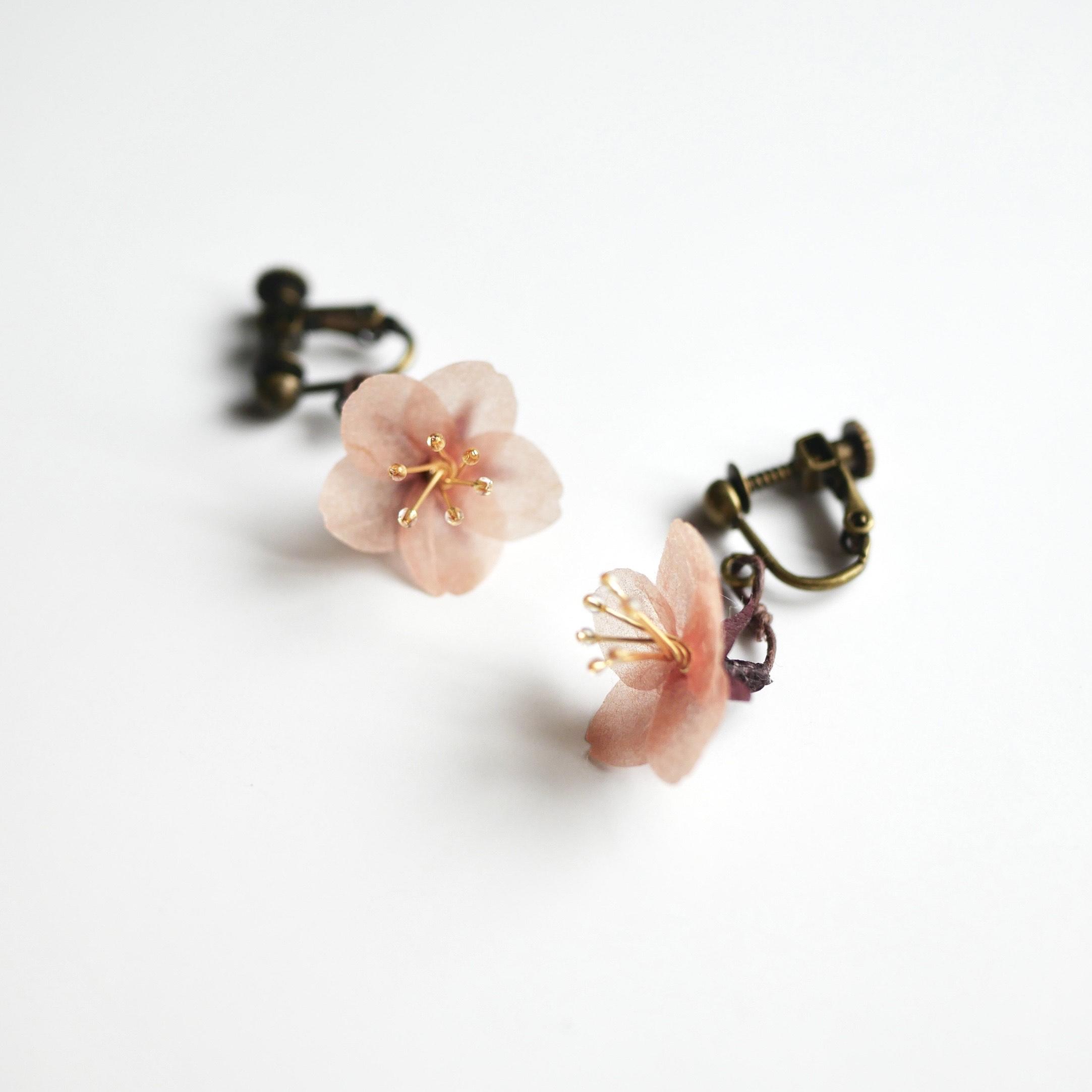 和紙の花「大和の桜 -追憶- 一輪」